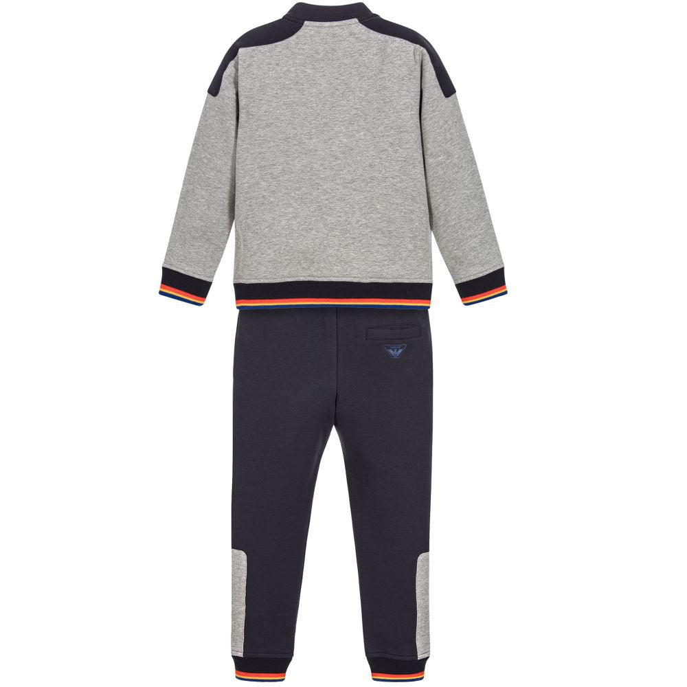 Armani Junior Boys Grey and Navy Sweatsuit Boys Sets Armani Junior [Petit_New_York]