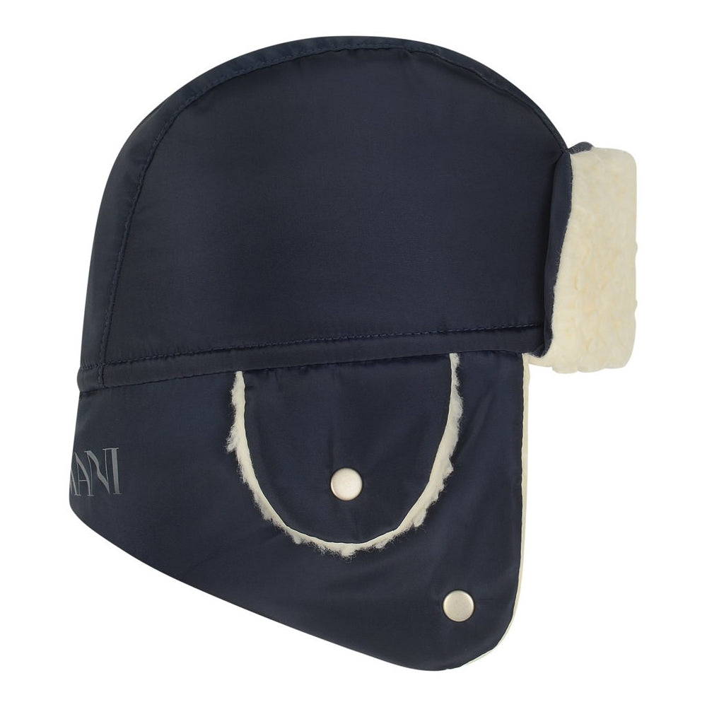 Armani Baby Boys Navy Blue Aviator Hat Baby Hats, Scarves & Gloves Armani Junior [Petit_New_York]