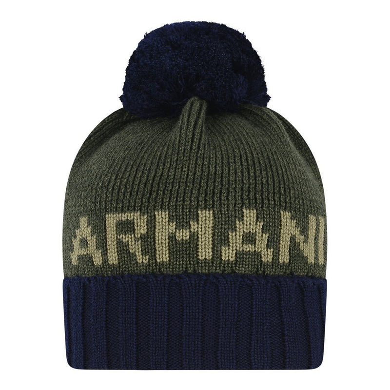 Armani Baby Boys Navy and Green Hat Baby Hats, Scarves & Gloves Armani Junior [Petit_New_York]