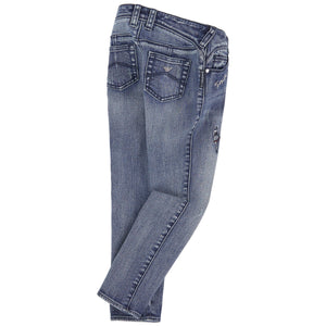 Armani Junior Girls Jeans with Sequin Patches Girls Pants Armani Junior [Petit_New_York]