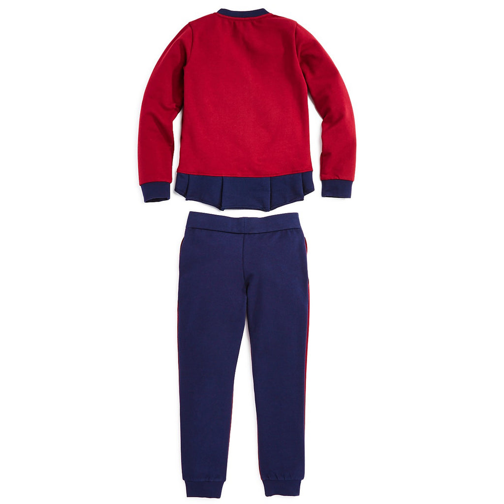 Armani Junior Girls Red Tracksuit Set Girls Sets Armani Junior [Petit_New_York]