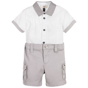 Armani Baby Boys Dressy Grey Set Baby Sets & Suits Armani Junior [Petit_New_York]