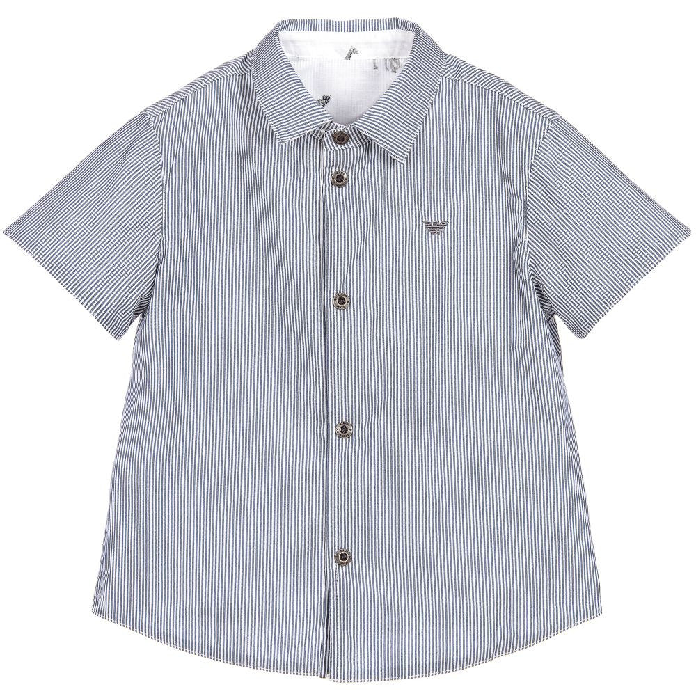 Armani Baby Boys Reversible Button-Down Baby Tops Armani Junior [Petit_New_York]