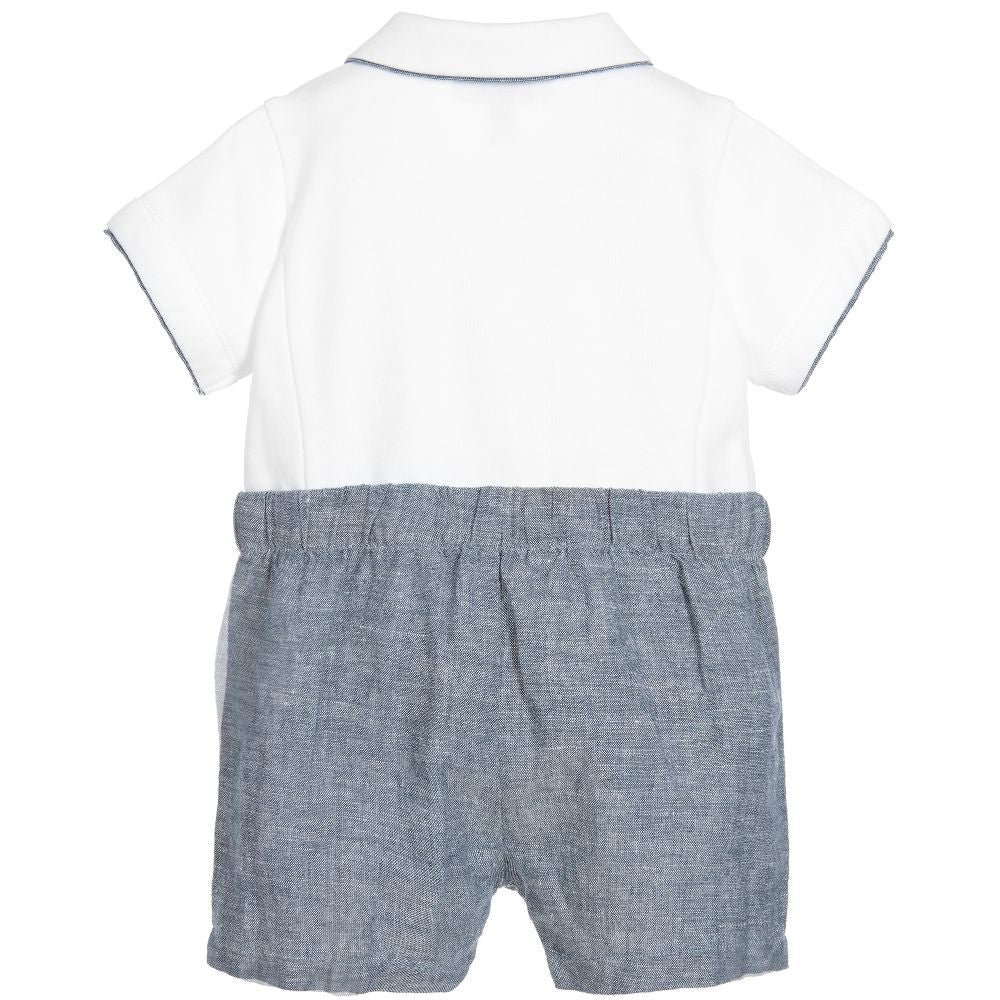 Armani Baby Boys White & Blue onesie Gift Set Baby Rompers & Onesies Armani Junior [Petit_New_York]