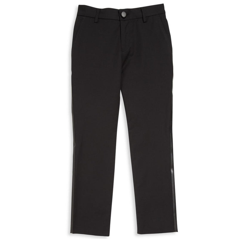 Armani Boys Jet Black Tuxedo Trousers Boys Pants Armani Junior [Petit_New_York]