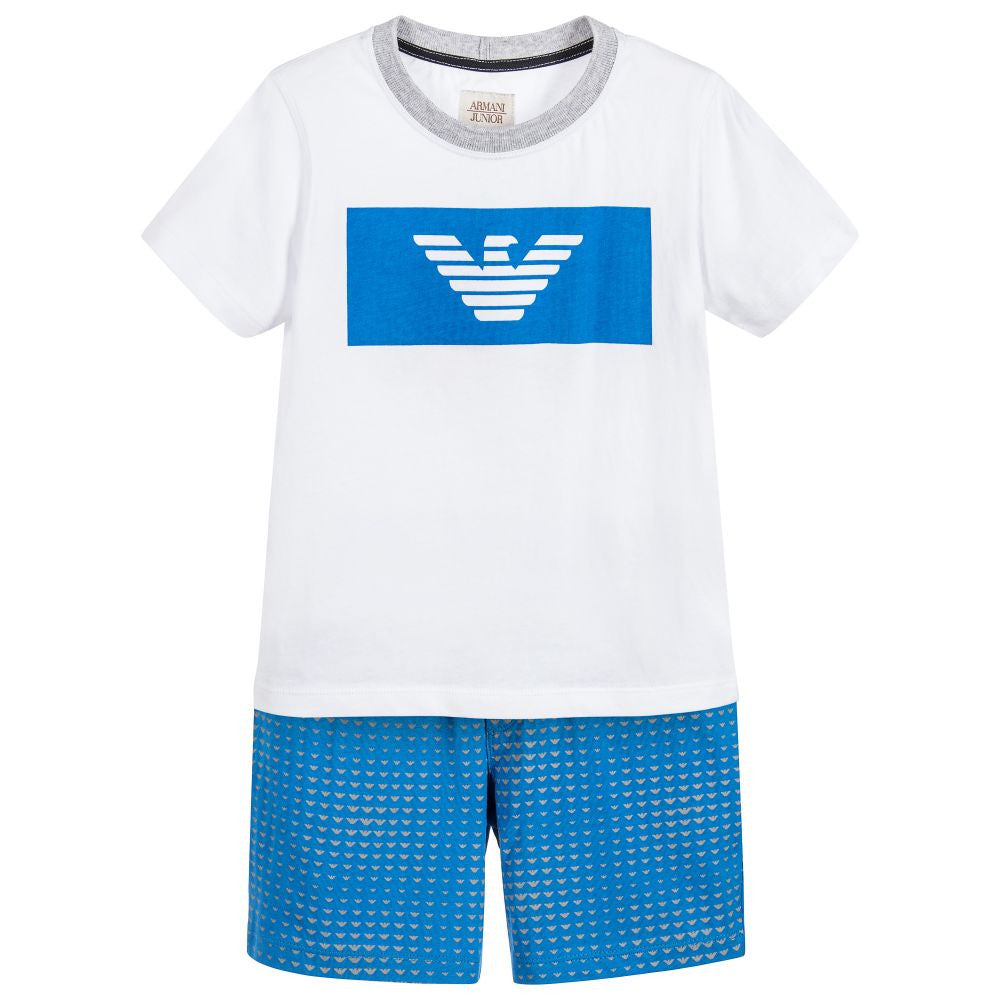 Armani Boys Sky Blue Two-Piece Set Boys Sets Armani Junior [Petit_New_York]