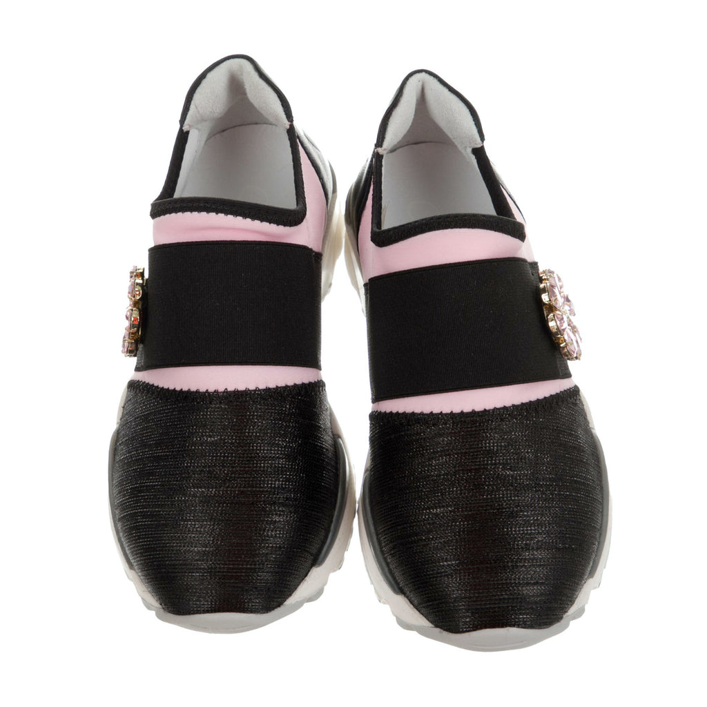 Girls Dual Tone Slip-On Sneakers