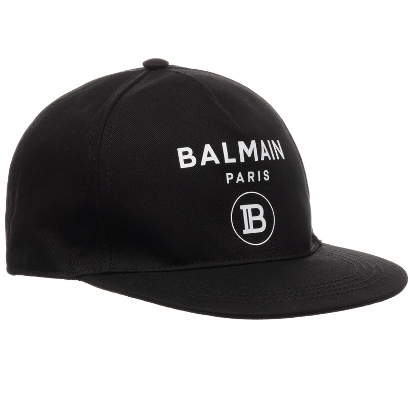 Unisex Black Cotton Cap (Mini-Me)
