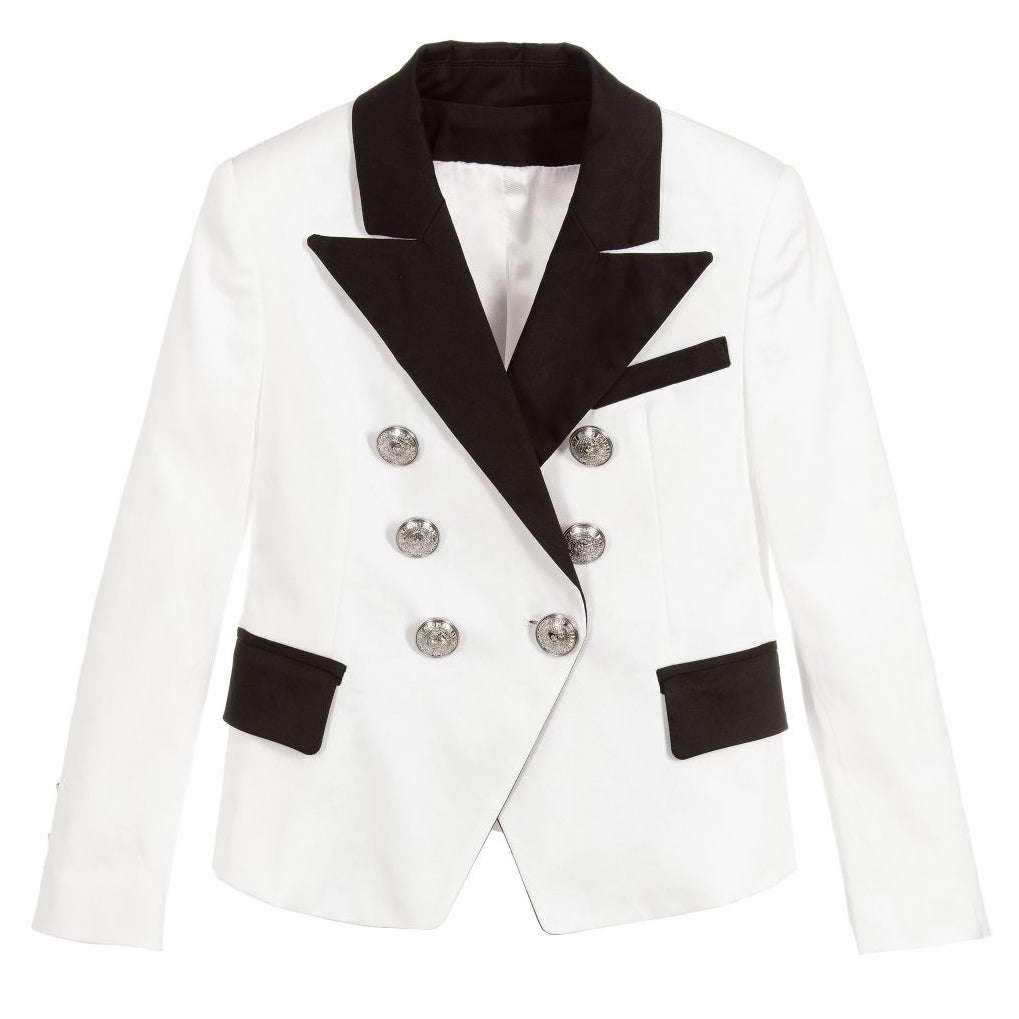 Unisex White & Black Tuxedo Jacket (Mini-Me)