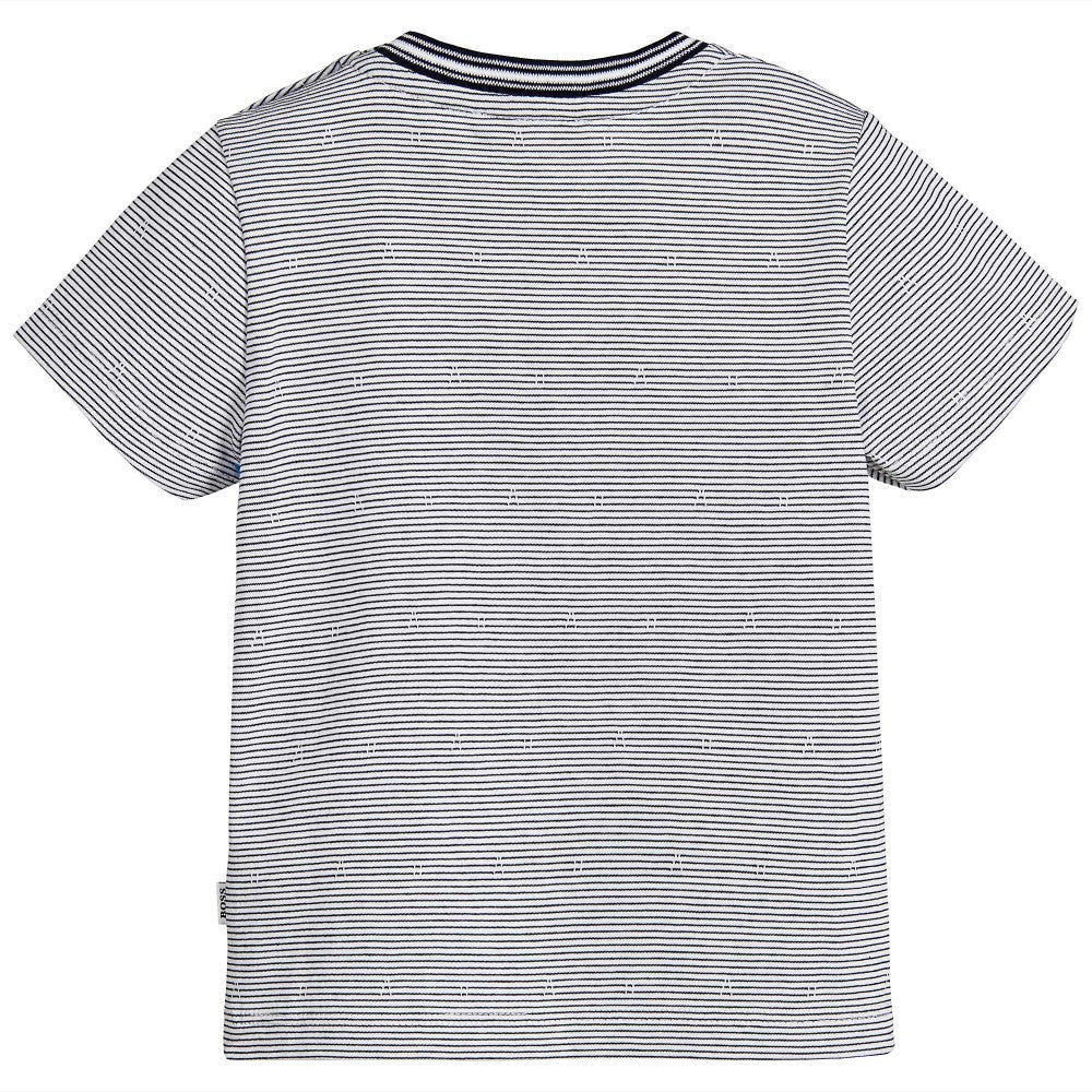 Hugo Boss Baby Boys Navy & White Striped T-Shirt Baby T-shirts Boss Hugo Boss [Petit_New_York]
