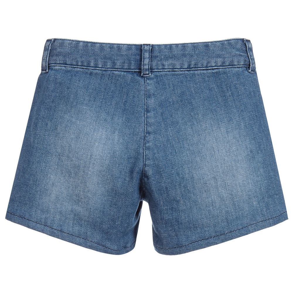 Girls Blue Denim Shorts (Mini-Me)