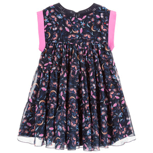 Girls Blue and Pink 'Chiffon' Dress (Mini-Me)