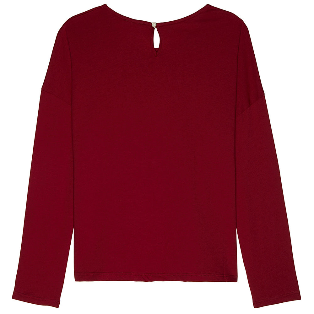 Chloe Girls Dark Red Logo Top Girls Tops Chloé [Petit_New_York]