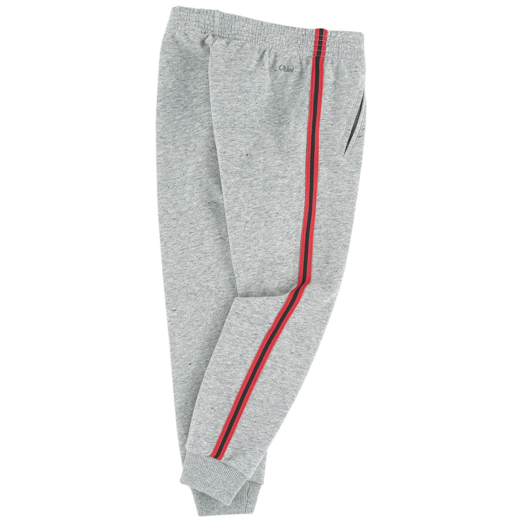 Chloe Girls Fancy Grey Sweatpants (Mini-Me) Girls Pants Chloé [Petit_New_York]