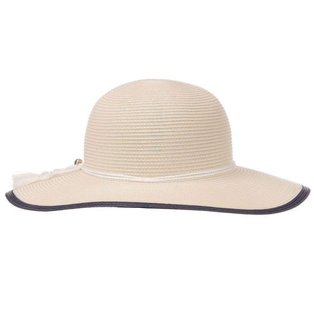Girls Fancy Ivory Sun Hat