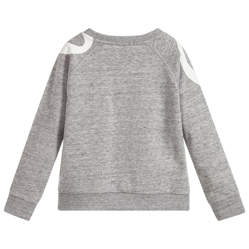 Girls Grey Logo Sweatshirt (Mini-Me)