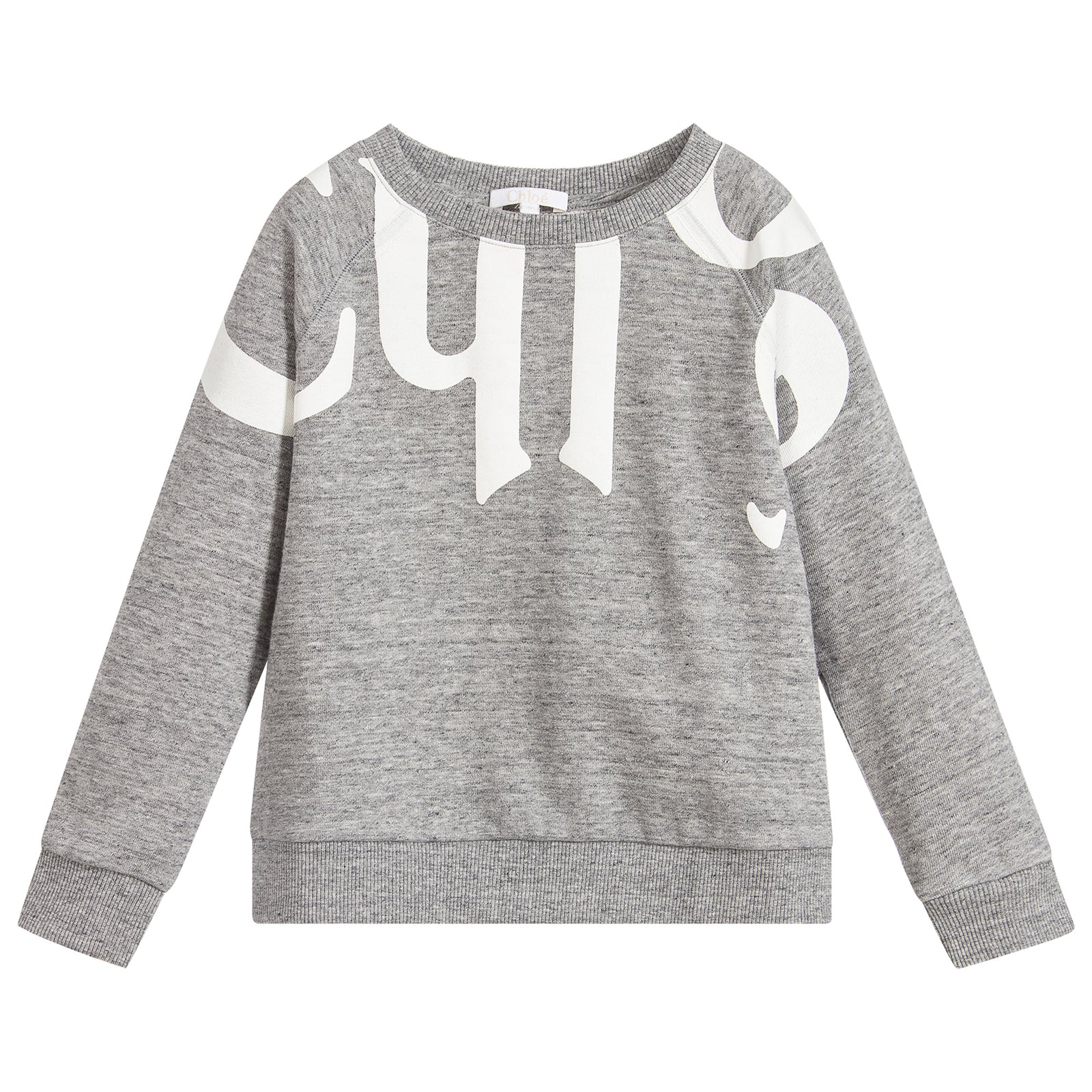 11b1b9ccd Chloe Girls Grey Logo Sweatshirt (Mini-Me) – Petit New York