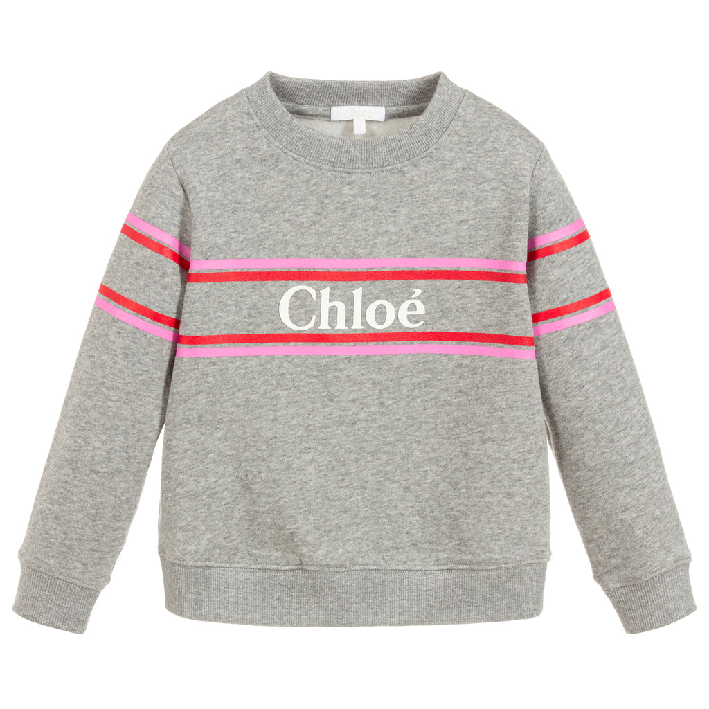 Girls Grey Logo Sweatshirt