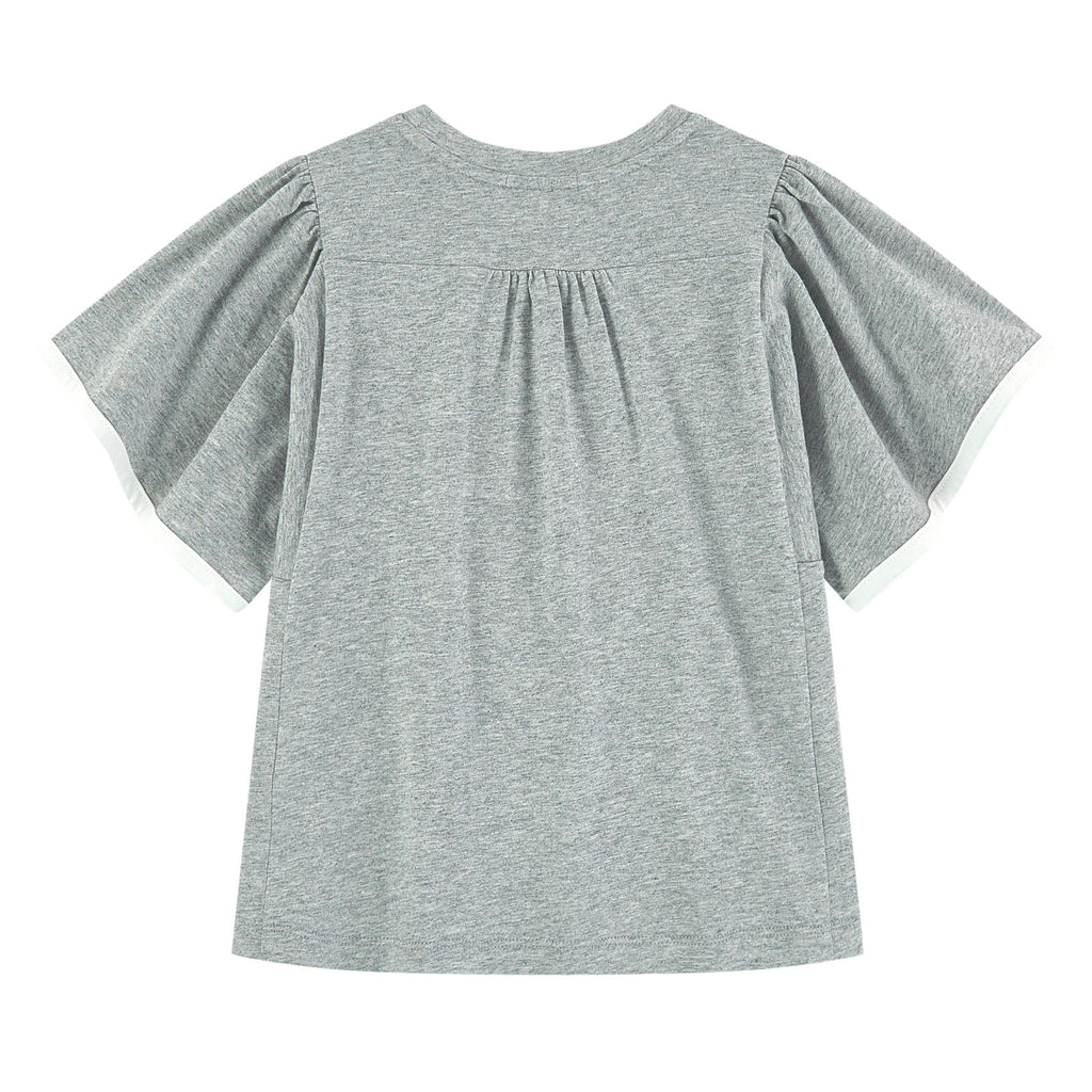 Girls Grey Logo T-shirt