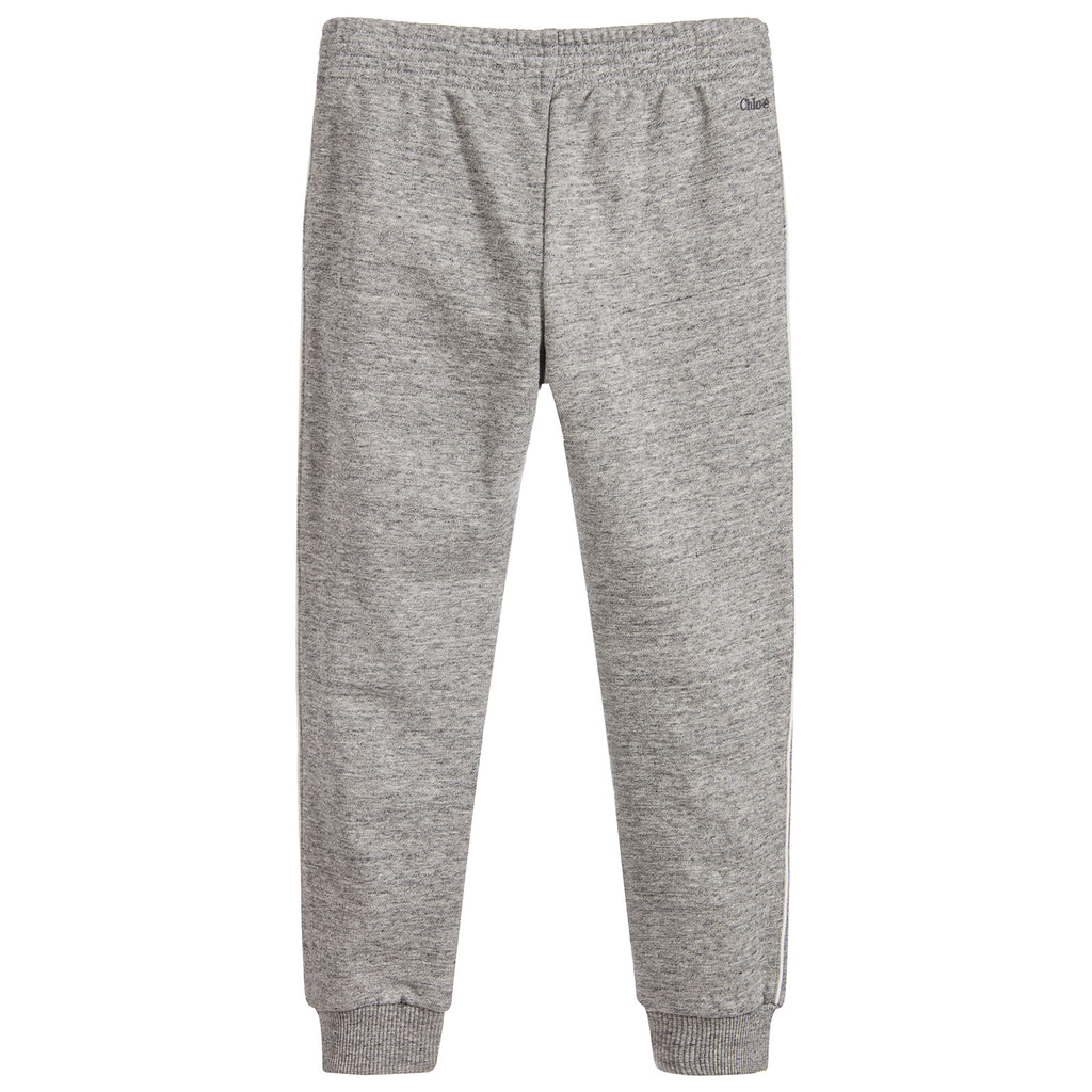Girls Grey Luxury Sweatpants