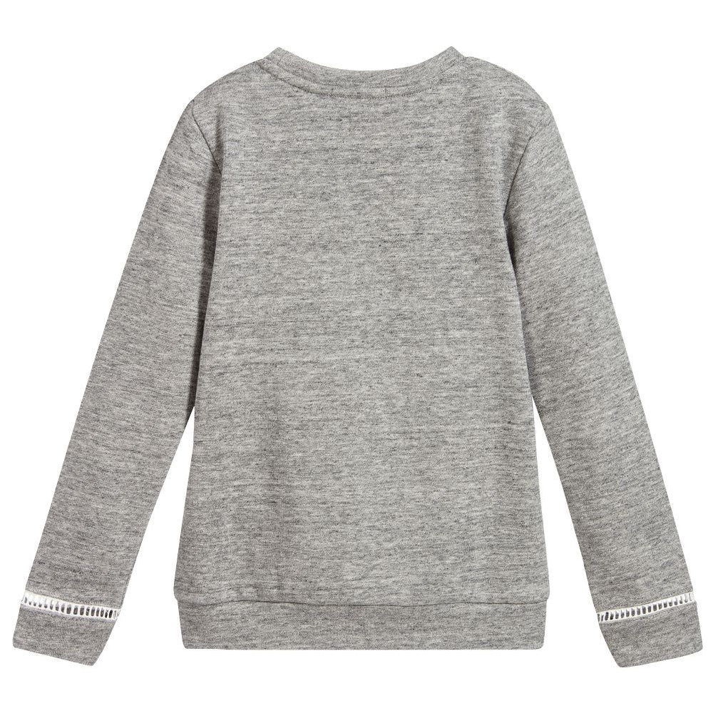 1744b1f74 Chloé Girls Grey Soft Cotton Logo Sweatshirt – Petit New York