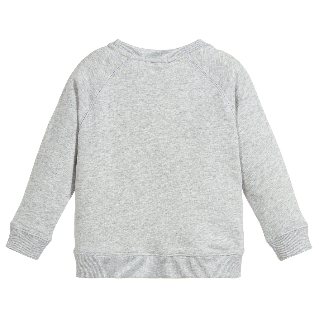 Girls Grey with Yellow Logo Sweatshirt