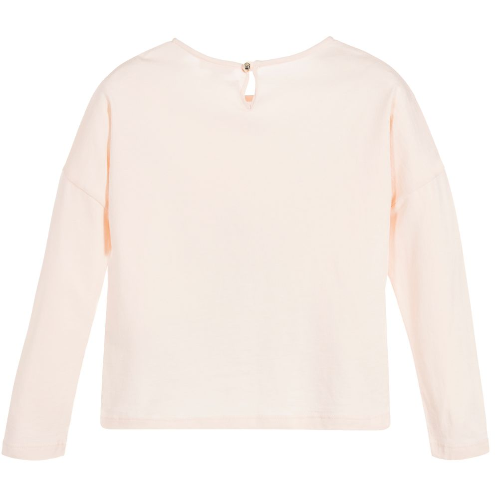 Chloe Girls Pale Pink Logo Top Girls Tops Chloé [Petit_New_York]