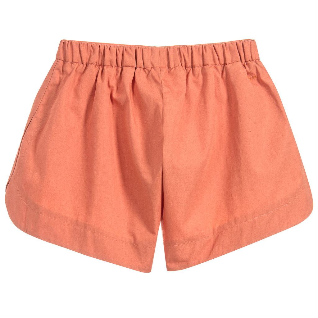 Girls Terracotta Lightweight Poplin Shorts (Mini-Me)