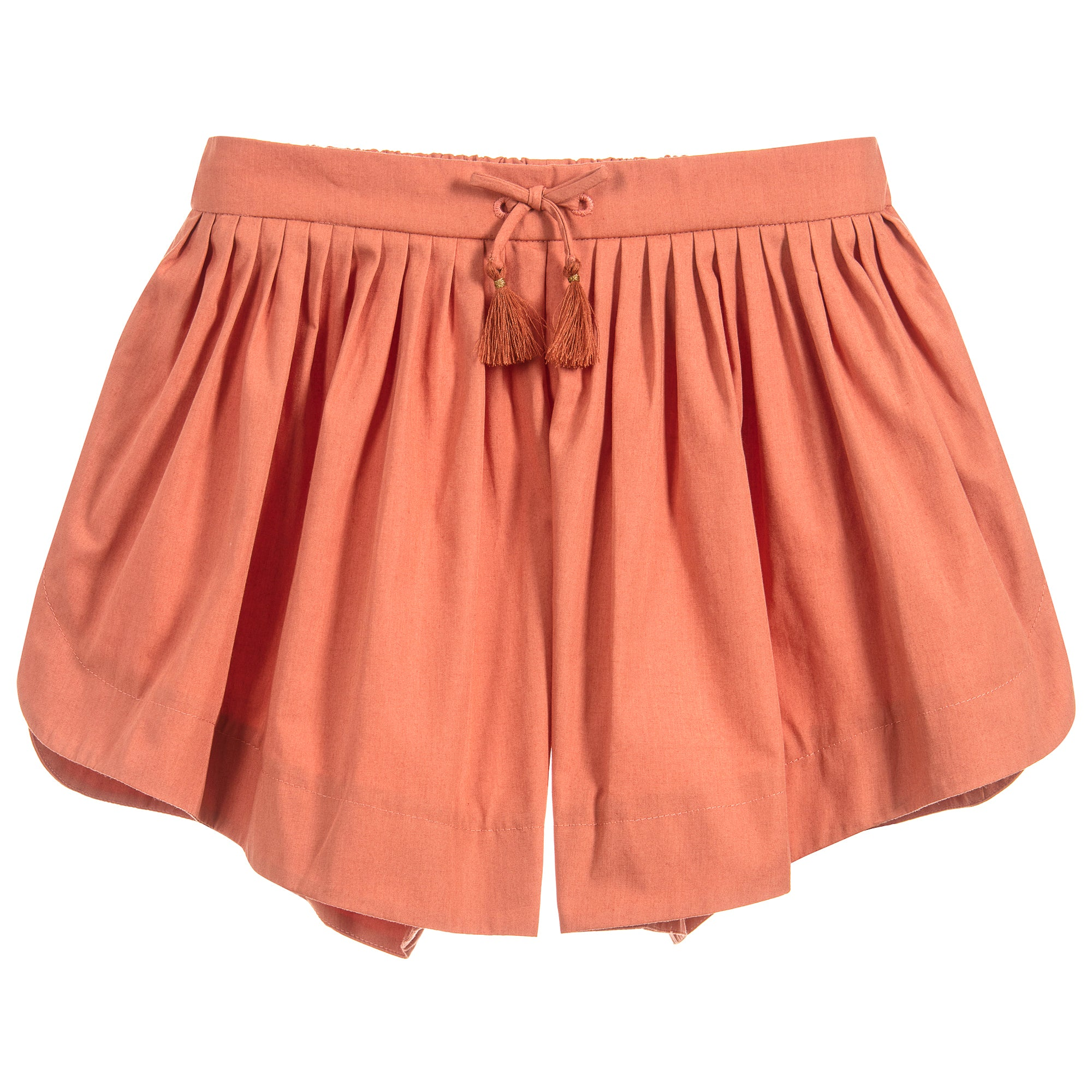 086adea57 Chloé Girls Terracotta Lightweight Poplin Shorts (Mini-Me) – Petit ...