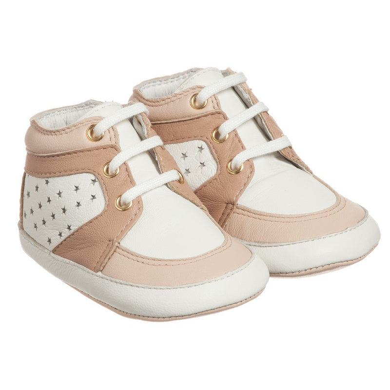 Chloe Baby Girls Pink Leather High-Top Sneakers Baby Shoes Chloé [Petit_New_York]