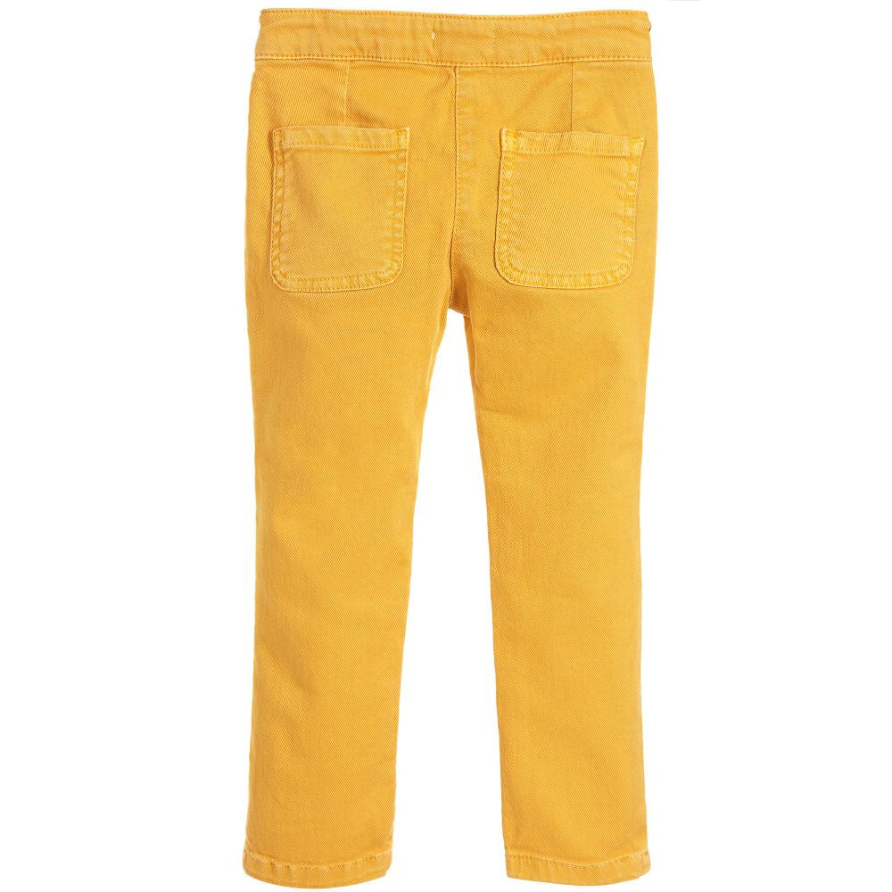 Chloe Girls Canary Yellow Braided Pants Girls Pants Chloé [Petit_New_York]