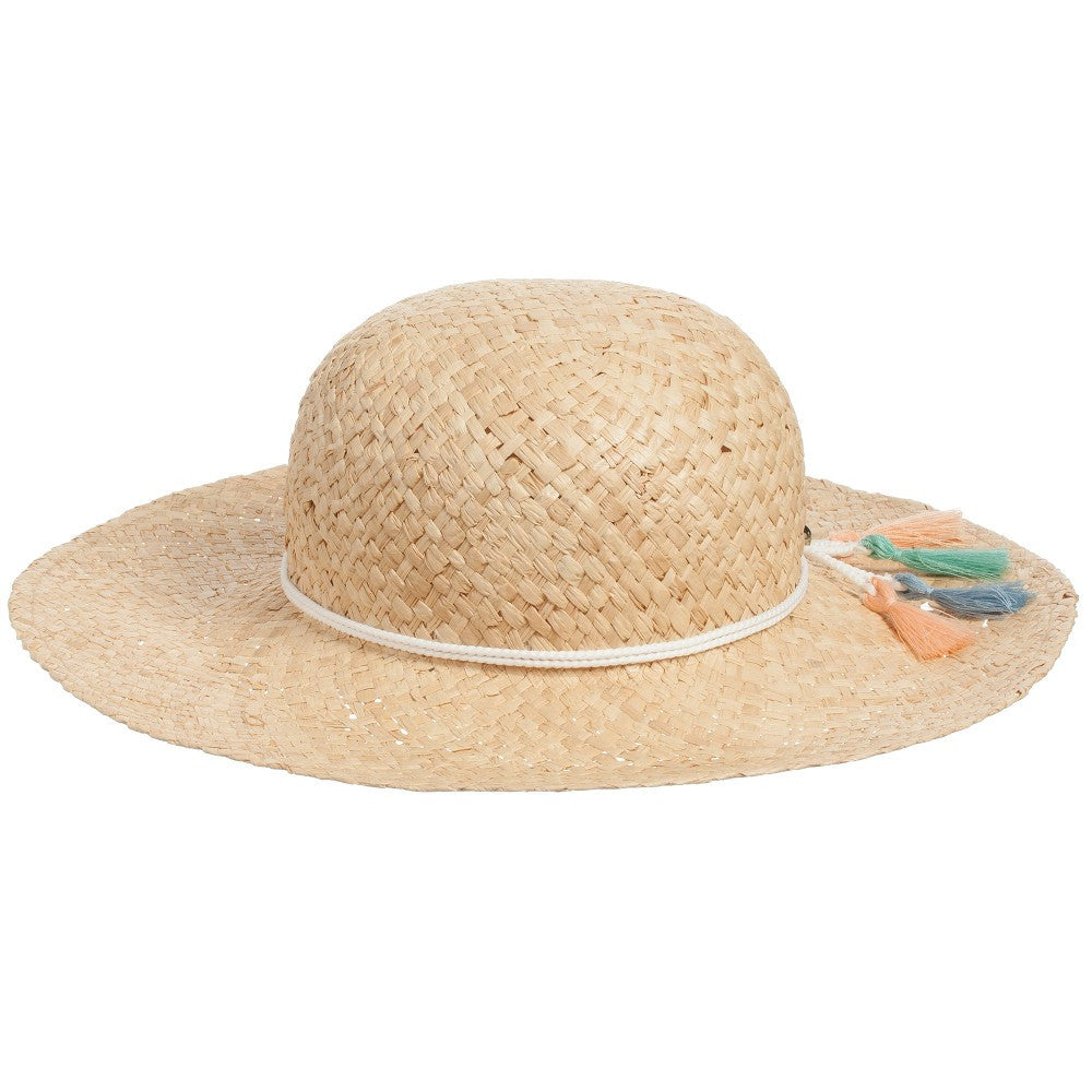 Chloe Girls Beige Straw Sun Hat | New Collection