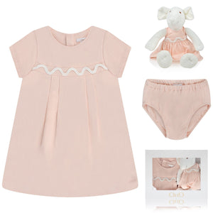 Chloe Baby Girls Light Pink Three-Piece Gift Set Baby Sets & Suits Chloé [Petit_New_York]