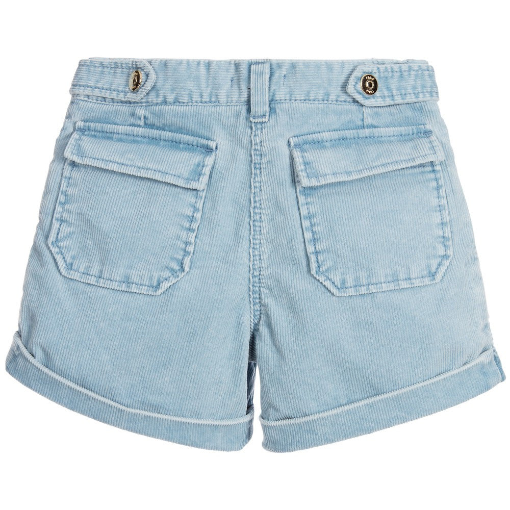 Chloé Girls Sky Blue Corduroy Shorts Girls Shorts Chloé [Petit_New_York]