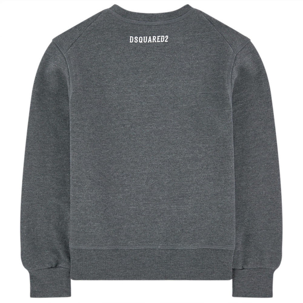 Dsquared2 Boys Grey 'Rebel' Sweatshirt Girls Sweaters & Sweatshirts Dsquared2 [Petit_New_York]