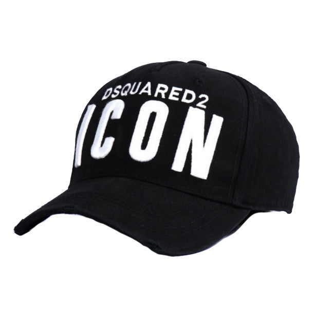 Dsquared2 Boys Black 'Icon' Cap Boys Hats, Scarves & Gloves Dsquared2 [Petit_New_York]