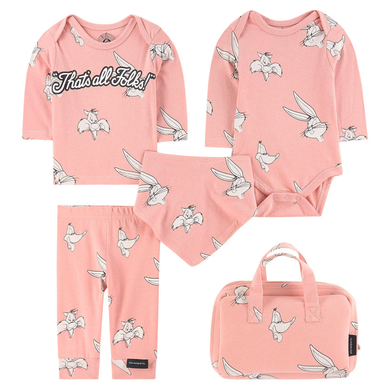 Baby Girls Pink Looney Tunes Outfit Set