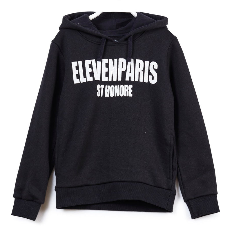 Eleven Paris Black and White Logo Sweatshirt Hoodie (unisex)