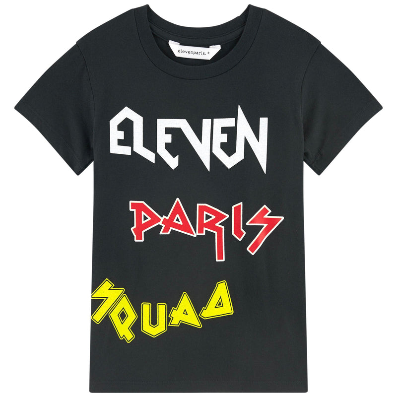 Eleven Paris Black with Colorful Logo T-shirt (unisex)