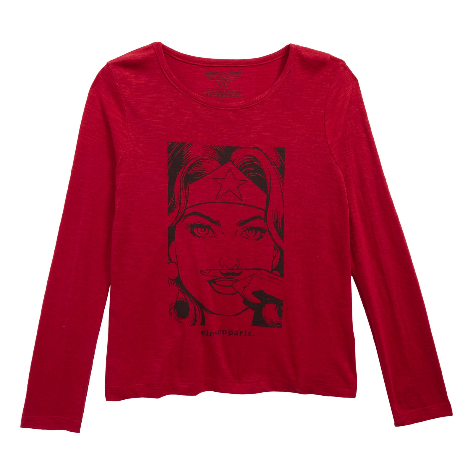 bfeb2bfbd Eleven Paris Girls Red 'WonderWoman' Long-Sleeved T-shirt – Petit New York