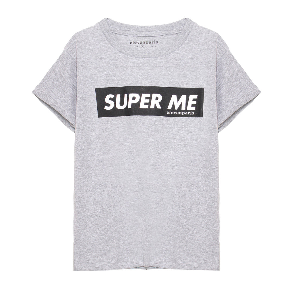 Eleven Paris Grey 'Super Me' Printed T-shirt (unisex)