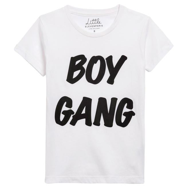 Eleven Paris White T-shirt with 'Boy Gang' Print (unisex)