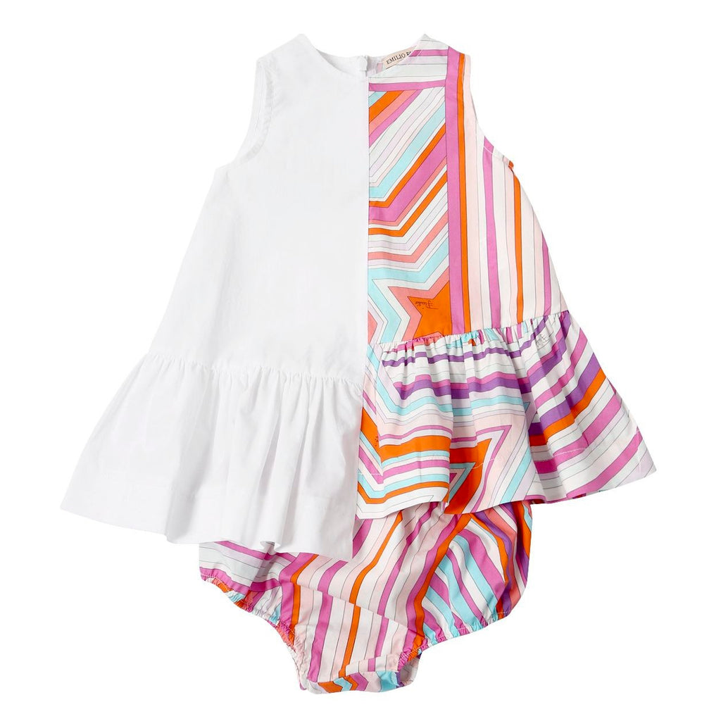 Baby Girls Colorful Dress with Diaper Cover
