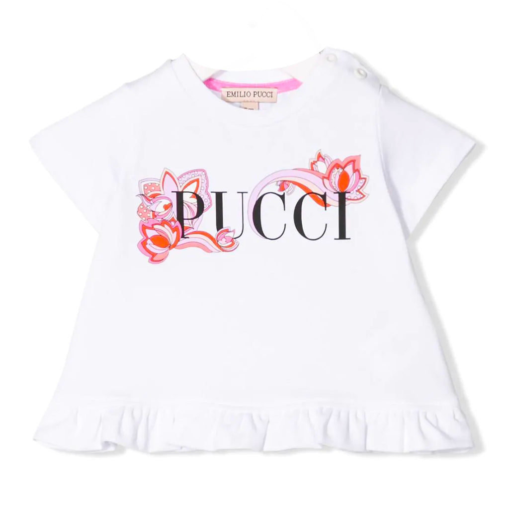 Baby Girls Colorful Logo Top