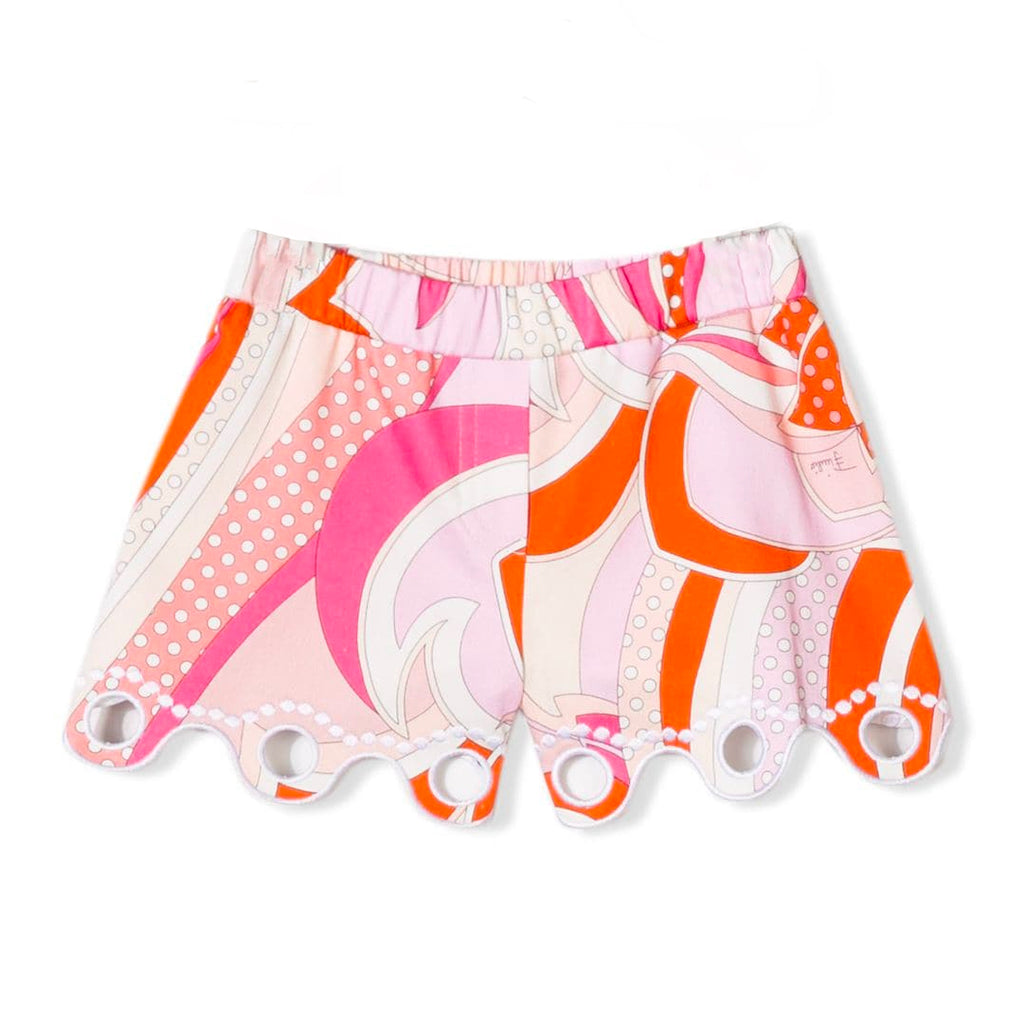 Baby Girls Colorful Pink Shorts