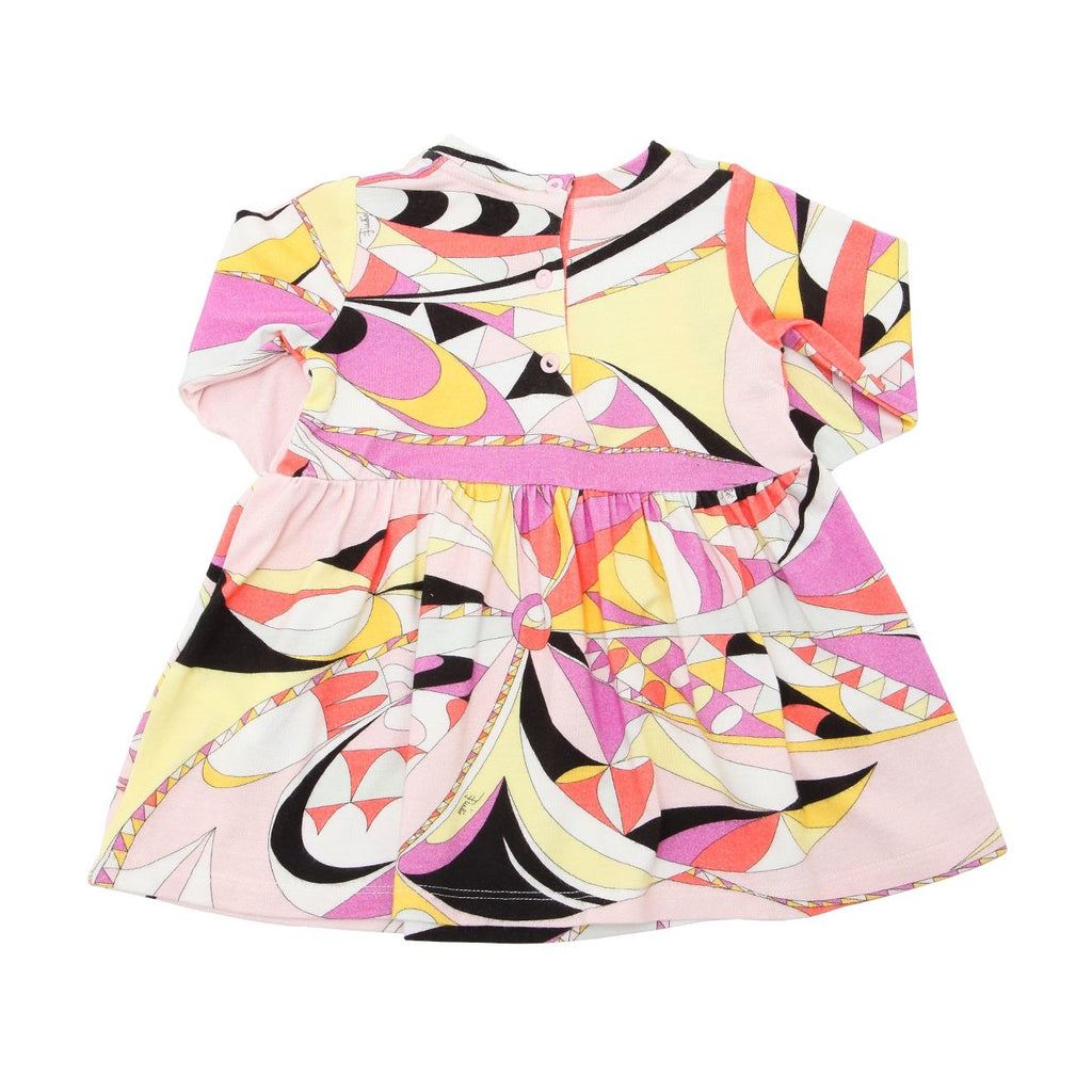 Baby Girls Colorful Printed Flared Dress