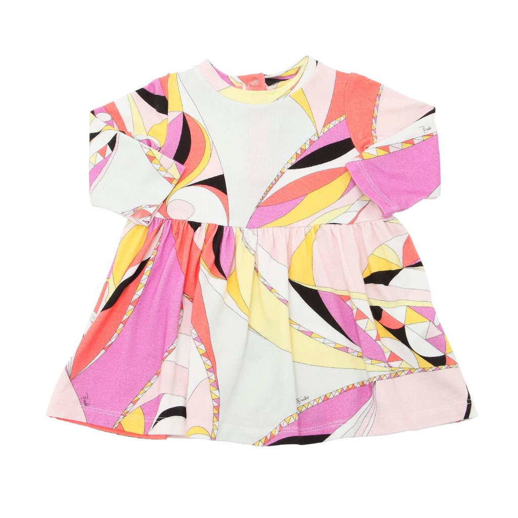 Emilio Pucci Baby Girls Colorful Printed Flared Dress