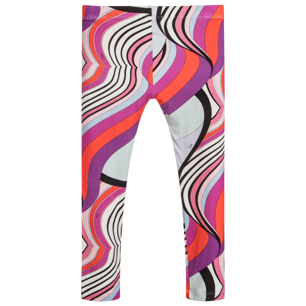 Girls Colorful Design Leggings
