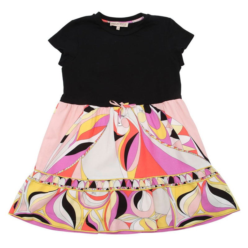 Girls Colorful Dual-Tone Dress