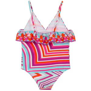 Girls Colorful Graphics Swimsuit